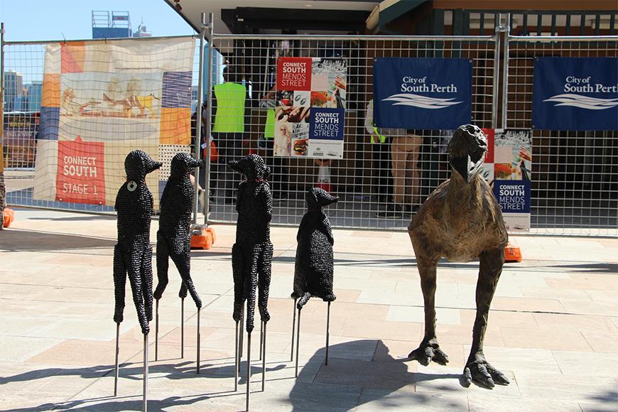 Emu and meerkats
