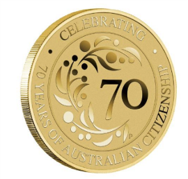 70 Years of Australian Citizenship 2019 Coin in Card