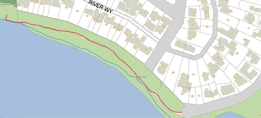 Salter point path closure map
