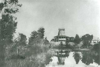 The first mill on Point Belches, taken in 1905
