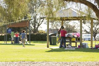 Sir James Mitchell Park barbecue and picnic shelters