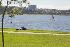 South Perth Esplanade Reserve, western end of the South Perth Foreshore