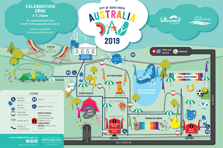 What Does Australia Look Like On A Map.Australia Day 2019 Celebration Zone
