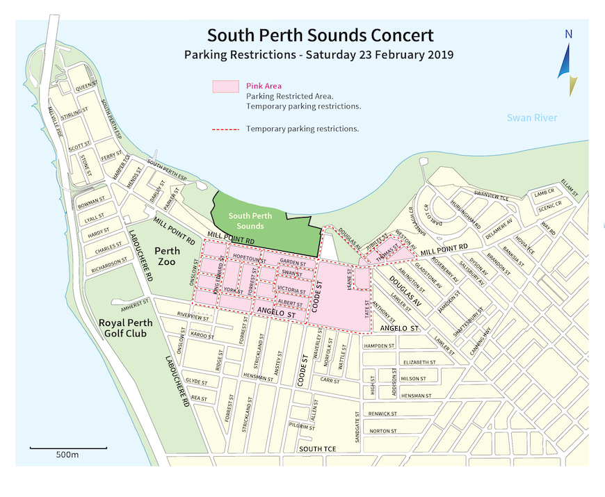 South Perth Sounds Parking Map 2019