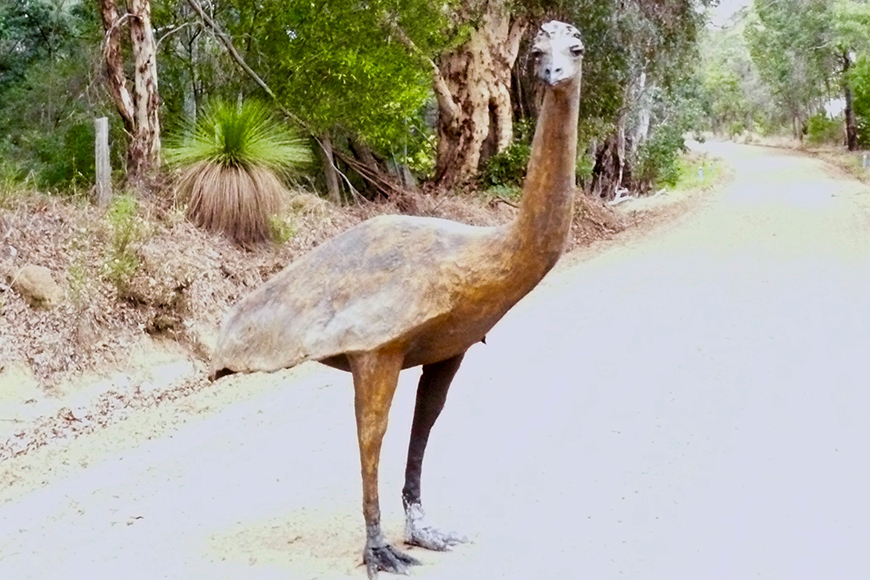 One of the Emu sculptures